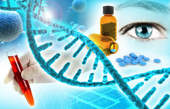 Biomedical research background Stock Photo