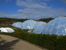 Biomes at Eden project 2. The Biomes at the Eden project in Cornwall, England stock images