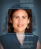 Biometria, femminile Fotografia Stock