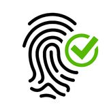 Biometric access granted vector icon Royalty Free Stock Image