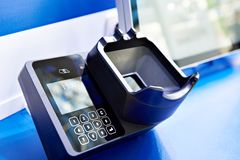 Biometric access systems stock photo