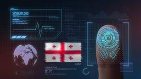 Biometric avläsande IDsystem för fingeravtryck Georgia Nationality royaltyfri foto