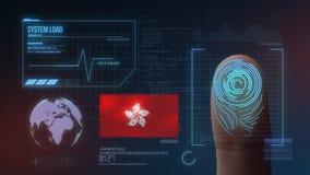 Biometric avläsande IDsystem för fingeravtryck Hong Kong Nationality royaltyfri illustrationer