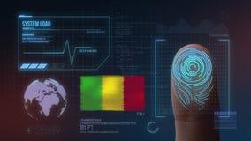 Biometric avläsande IDsystem för fingeravtryck Mali Nationality arkivbild
