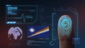 Biometric avläsande IDsystem för fingeravtryck Marshall Islands Nationality royaltyfria bilder