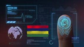 Biometric avläsande IDsystem för fingeravtryck Mauritius Nationality arkivbilder