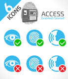 Biometric ID authentication. Access granted or denied Royalty Free Stock Image