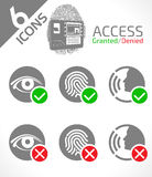 Biometric ID authentication. Access granted or denied Royalty Free Stock Images