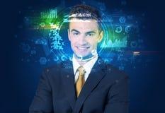 Biometric ID och ansiktsbehandlingerkännande royaltyfri bild