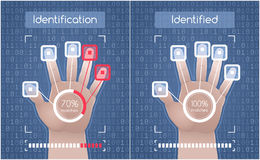 Biometric Identification. Graphic design Royalty Free Stock Photo