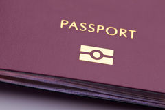 Biometric Identity. Closeup image of a biometric passport royalty free stock images