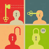 Biometric identity key for privacy Royalty Free Stock Images