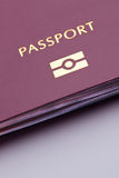 Biometric Passport. Closeup image of a biometric passport stock photo