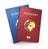 Biometric passports Stock Images