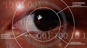 biometric säkerhet Fotografering för Bildbyråer