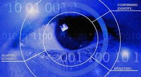 Biometric scanning Arkivbild