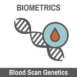 Biometric Scanning. DNA and Blood Biometric Scanning Recognition Royalty Free Stock Photo