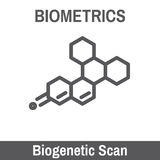 Biometric Scanning. DNA and Blood Biometric Scanning Recognition Stock Images