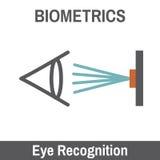 Biometric Scanning - Eyeball Recognition Scan Stock Image