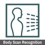 Biometric Scanning. Graphic - Body Scan Recognition Stock Photo