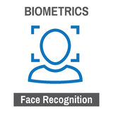 Biometric Scanning Image Facial Recognition. S Royalty Free Stock Photo