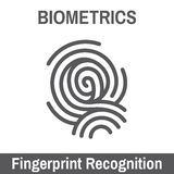 Biometric Scanning. Biometric Scan - Hand or Fingerprint Stock Image