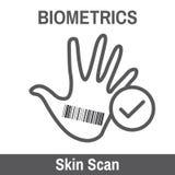 Biometric Scanning. Biometric Scan - Hand or Fingerprint Stock Photo