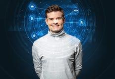 Biometric teknologi för ansikts- erkännande arkivfoto