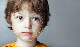 Biometric Verification - Boy Face Detection, Stock Images