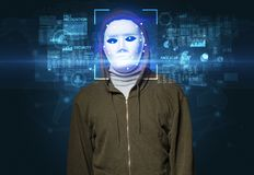 Face recognition with several points Royalty Free Stock Photography