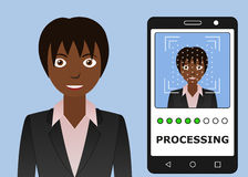 Biometrical identification. Face recognition. Royalty Free Stock Photos