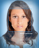 Biometrics, female Stock Photography