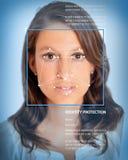 Biometrics kvinnlig Arkivbild