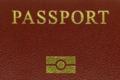 Biometrics logo printed on Electronic passports Stock Photos