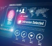 Biometrics Security Technology vector illustration