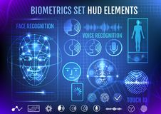 Biometrie gesetzter HUD Elements Stockfoto