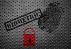 Biometrisch veiligheidsconcept stock foto