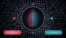Biometrische Überprüfung - Infographic-Schablone Stockfoto