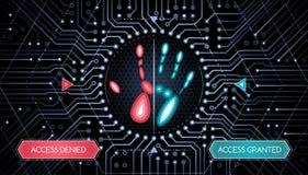 Biometrische Überprüfung - Infographic-Schablone Lizenzfreie Stockfotografie