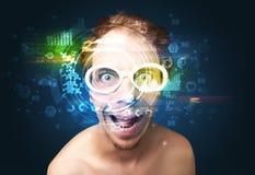 Biometrische identificatie en Gezichtserkenning stock fotografie