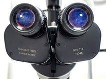 Biomicroscope de lampe de fente pour l'ophtalmologue Image stock
