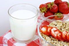 Biomilch mit Getreide Lizenzfreies Stockbild