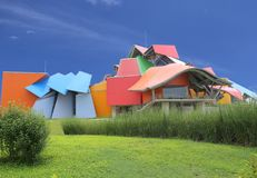 Biomuseo - μουσείο βιοποικιλότητας στην πόλη του Παναμά μέχρι το Μάιο του 2015 του Frank Gehry Κεντρική Αμερική αρχιτεκτόνων, πόλ στοκ φωτογραφία