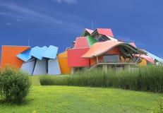 Biomuseo - museo de la biodiversidad en ciudad de Panamá del arquitecto Frank Gehry Central America May 2015, ciudad de Panamá, P fotografía de archivo