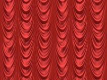 bion hänger upp gardiner den röda theatren Royaltyfri Bild