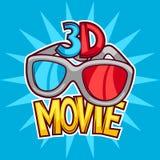 Bion och advertizingbakgrund för film 3d i tecknad film utformar Royaltyfria Bilder
