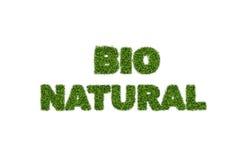 Bionaturrasentext Lizenzfreies Stockfoto