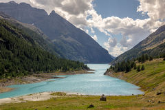 Bionaz Lake on Aosta Valley. View of the Bionaz Lake, place moulin Stock Photography