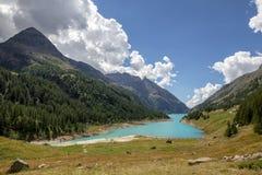 Bionaz sjö på Aosta Valley Royaltyfri Fotografi