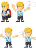 Bionda Rich Boy Customizable Mascot 9 Fotografie Stock Libere da Diritti